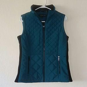 Andrew Marc green vest for women